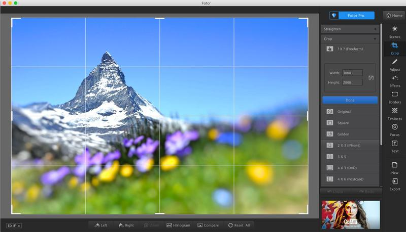 pictures editing tool